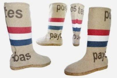 Hippe Espadrille laarzen van PTT Postzakken