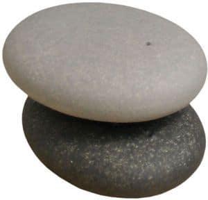 Voor een hip gedekte tafel: peper en zout stenen