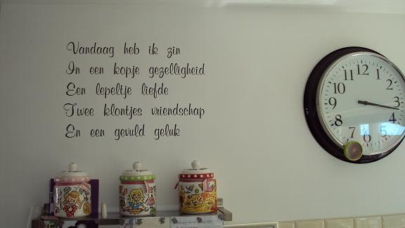 Muurstickers Keuken Recepten : Woordsticker.nl win een grote spreukensticker twv ?30