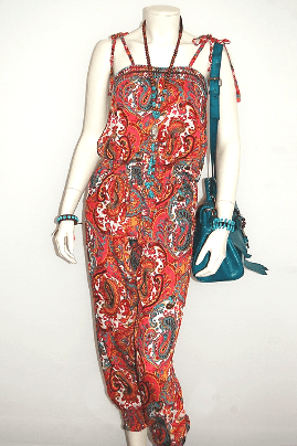 Touch of Boho Hot Lava collectie | Hippe jumpsuit paisleyprint