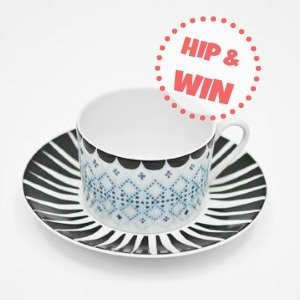 House of Rym | Win een hippe kop & schotel van porselein