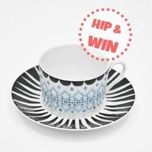 House of Rym | Win een hippe kop & schotel van porselein