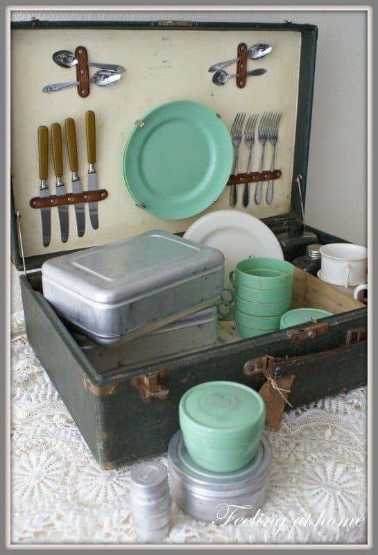 Brocante picknickset '50 | een ware must have!