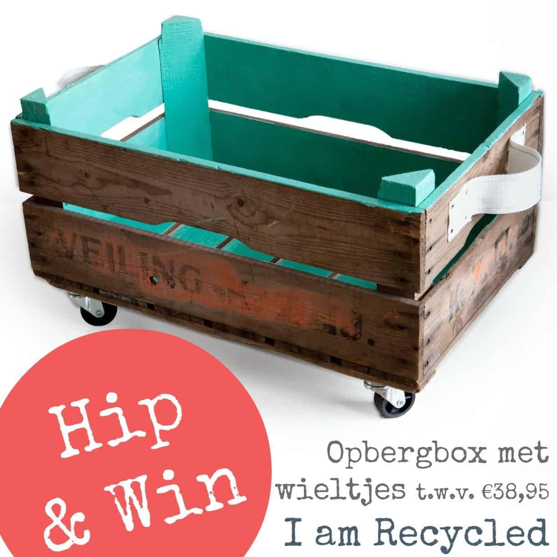 Iamrecycled Giveaway – Houten Opbergbox op Wieltjes €38,95