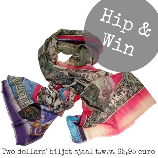 Hippe sjaal met '2 Dollar' print, voor mannen met lef
