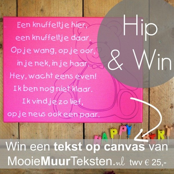 win een tekst op canvas van mooiemuurteksten.nl — hippeshops.nl, Deco ideeën