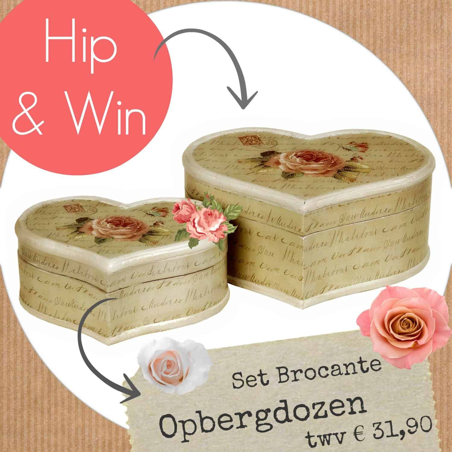 Modilly giveaway – Set Brocante Opbergdozen