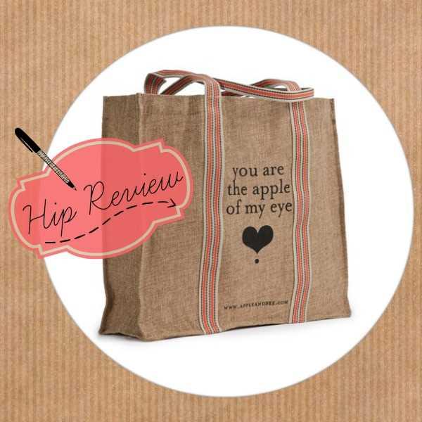 Verantwoordelijk shoppen met de jute ecobag van Apple & Bee