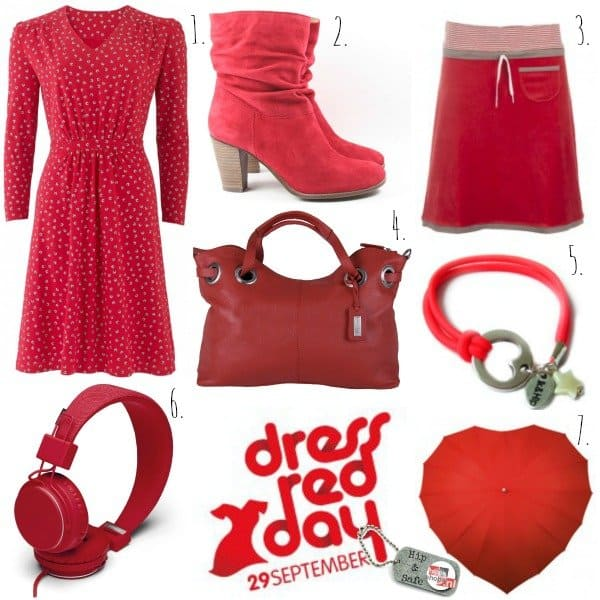 Draag hip rood op Dress Red Day