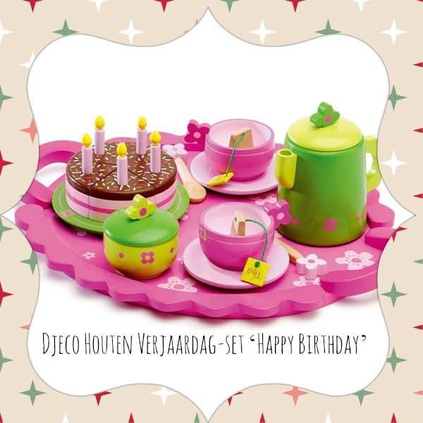 Djeco Houten Verjaardag-set