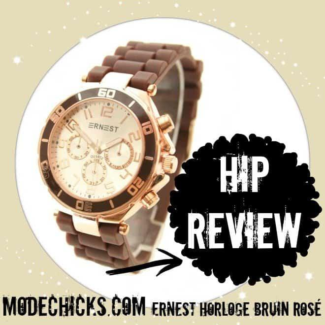 Modechicks.com | Ernest Horloge bruin/rosé hip getest
