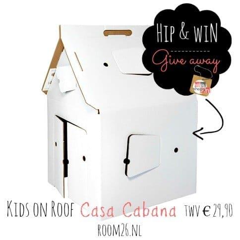 Kidsonroof Speelhuisje Casa Cabana giveaway €29,90
