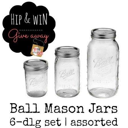 Ball Mason Jars giveaway – win een 6-delige set naar keuze