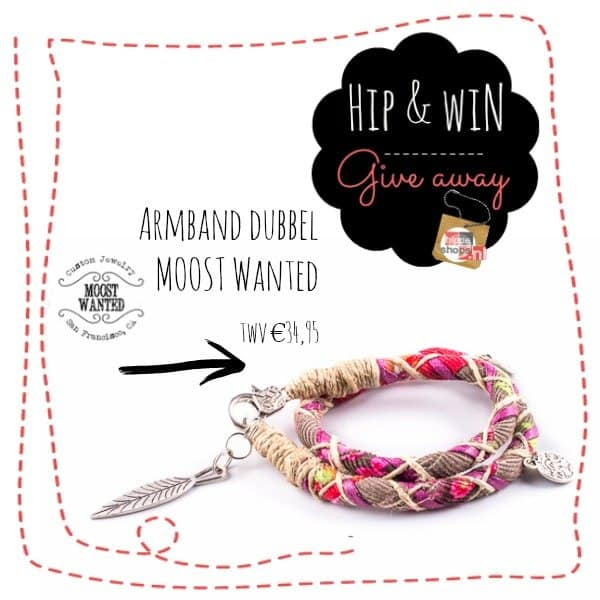Hippiechic giveaway MOOST Wanted armband twv €34,95