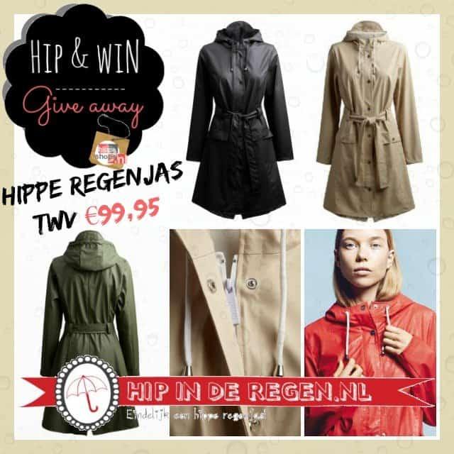 Hipinderegen.nl giveaway – hippe regenjas twv €99,95