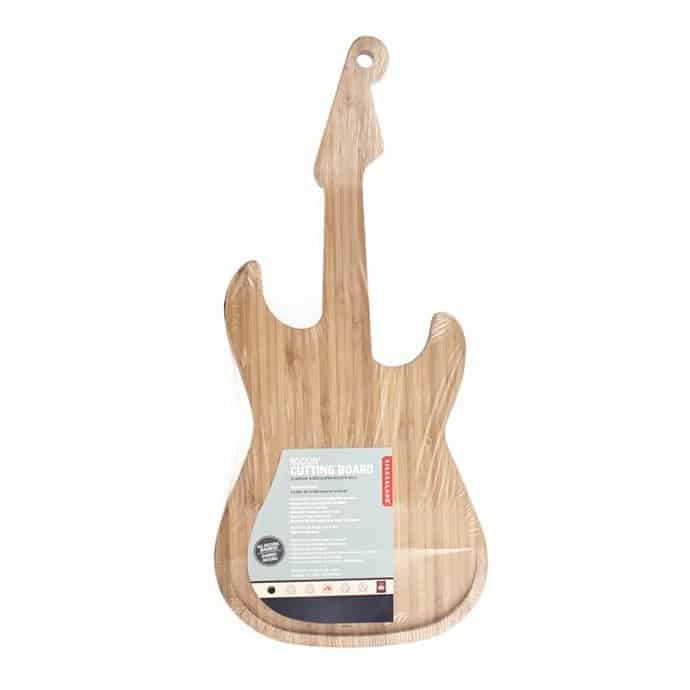 Kikkerland rocks met bamboe snijplank gitaar
