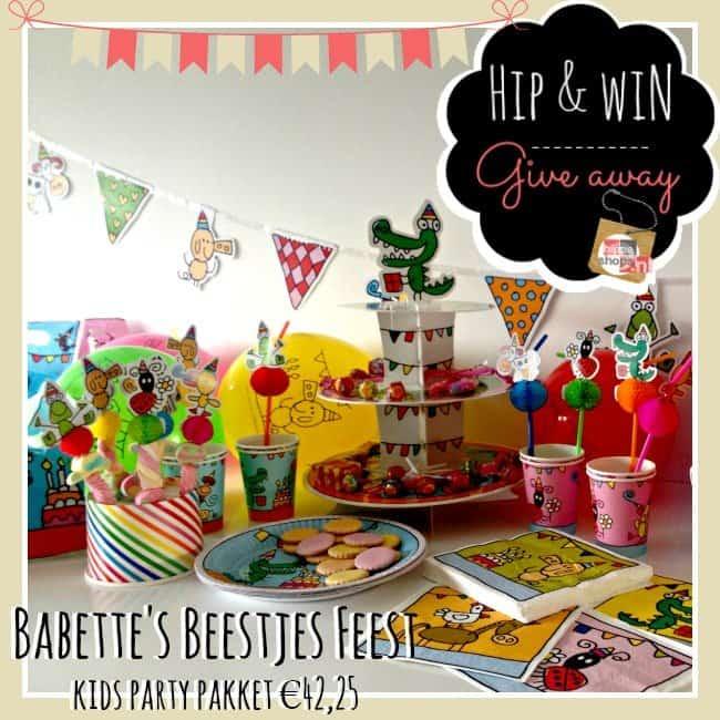 Win een kinderfeest pakket twv €42 van Hieppp.nl