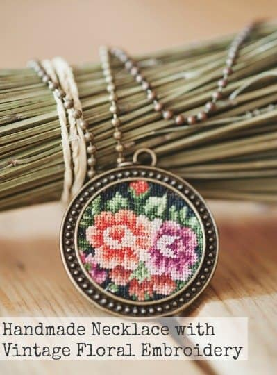namanama-Handmade Necklace with Vintage Floral Embroidery-hippeshops