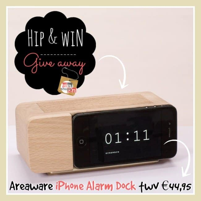 Winnen! Areaware iPhone Alarm Dock twv €44,95