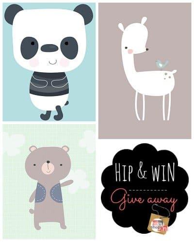 Dreumes enZo giveaway: posters met panda, beer en hert
