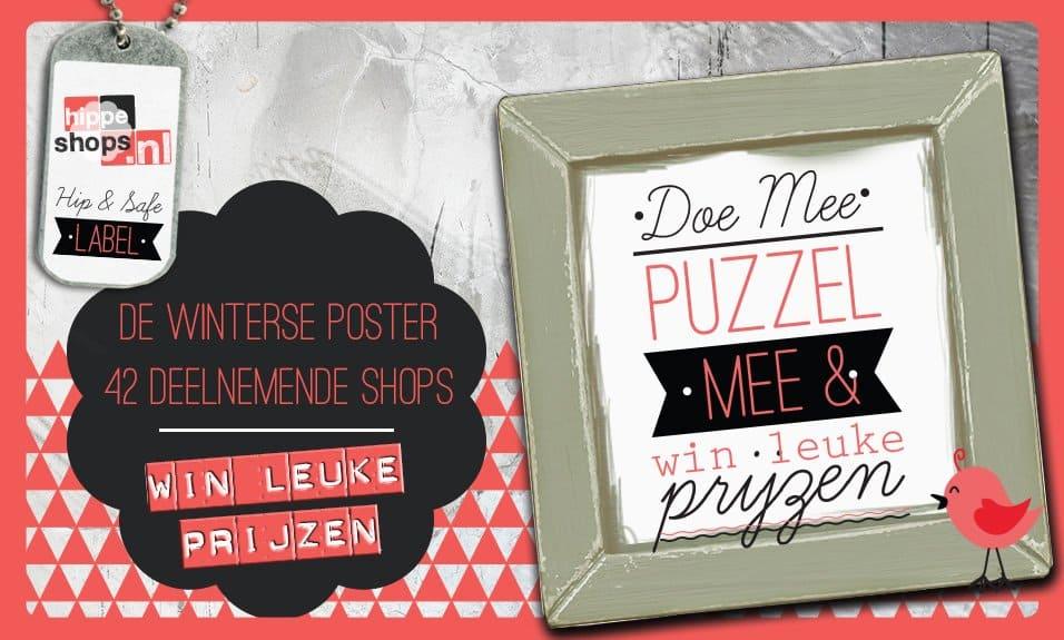 De Winterse Webshop Poster - 42 deelnemende shops - Win leuke prijzen!