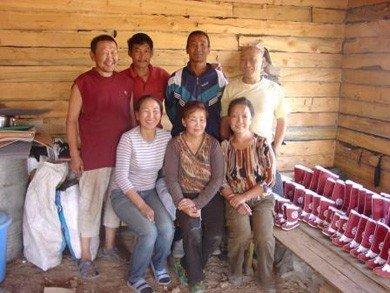 Hippe handgemaakte warme laarsjes uit Mongolië