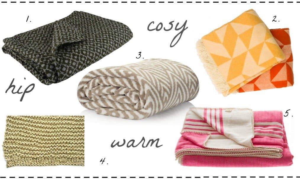 Cosy, hip & warm! De 5 mooiste plaids van de webwinkels van HippeShops.nl