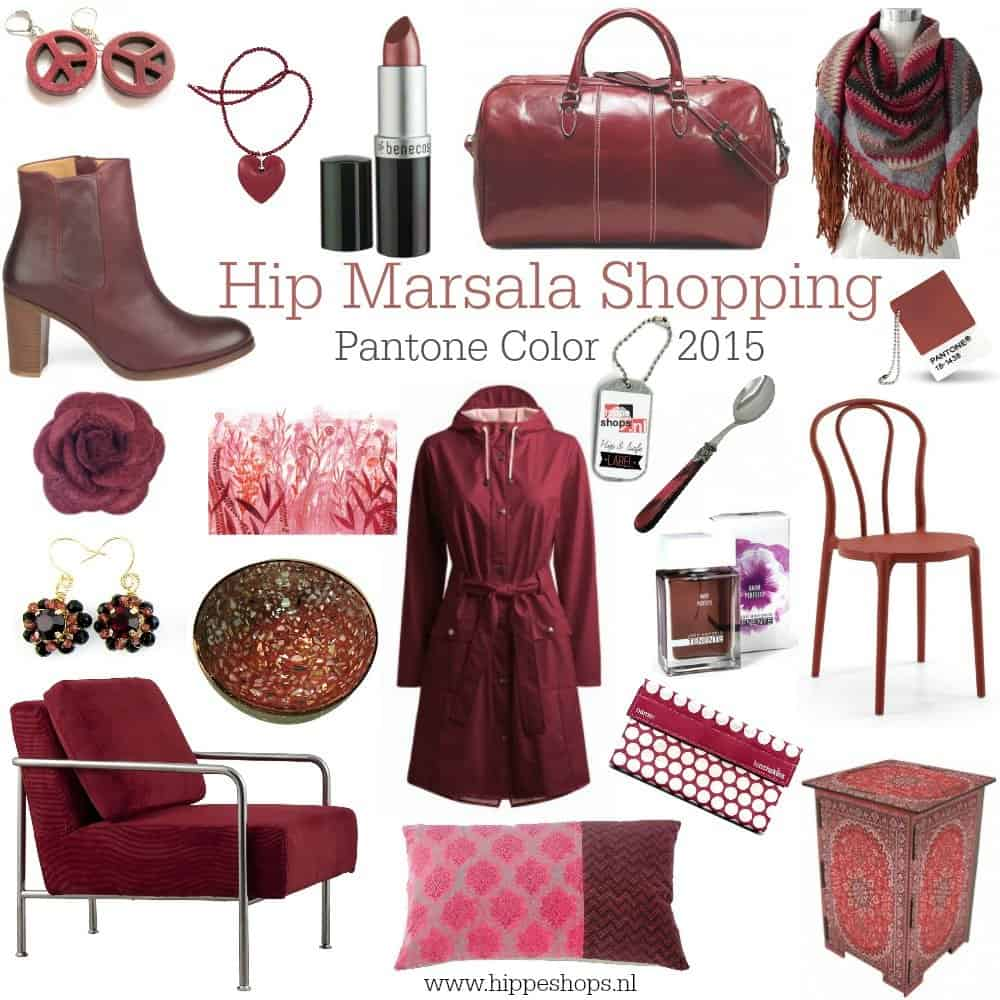 Marsala Color Shopping: Pantone trendkleur 2015