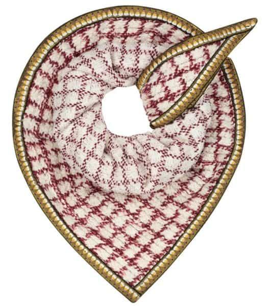 Furry Snow sjaal met dessin 150 x 100 cm