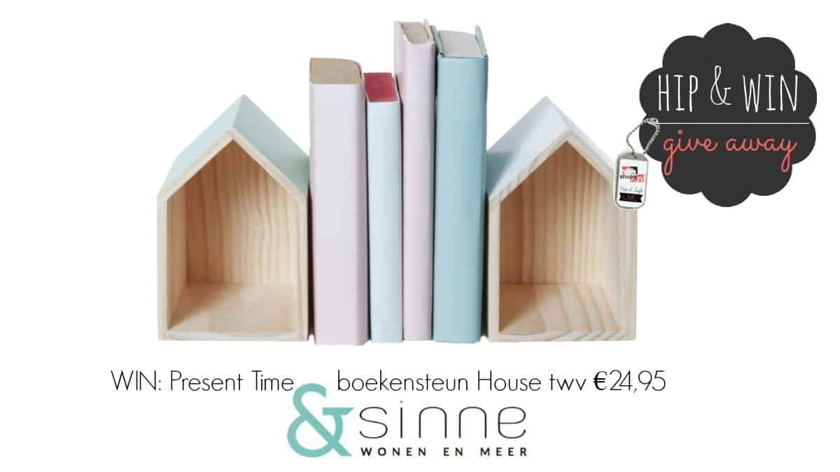 WIN: Boekensteun set House van Present Time twv €24,95