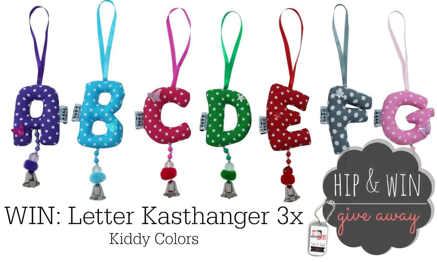 WIN: 3x Letter Kasthangers van KiddyColors.com