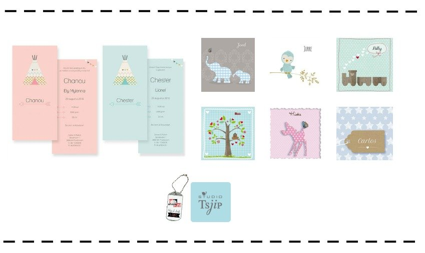 Tsjip Geboortekaartjes – originele kaartjes online