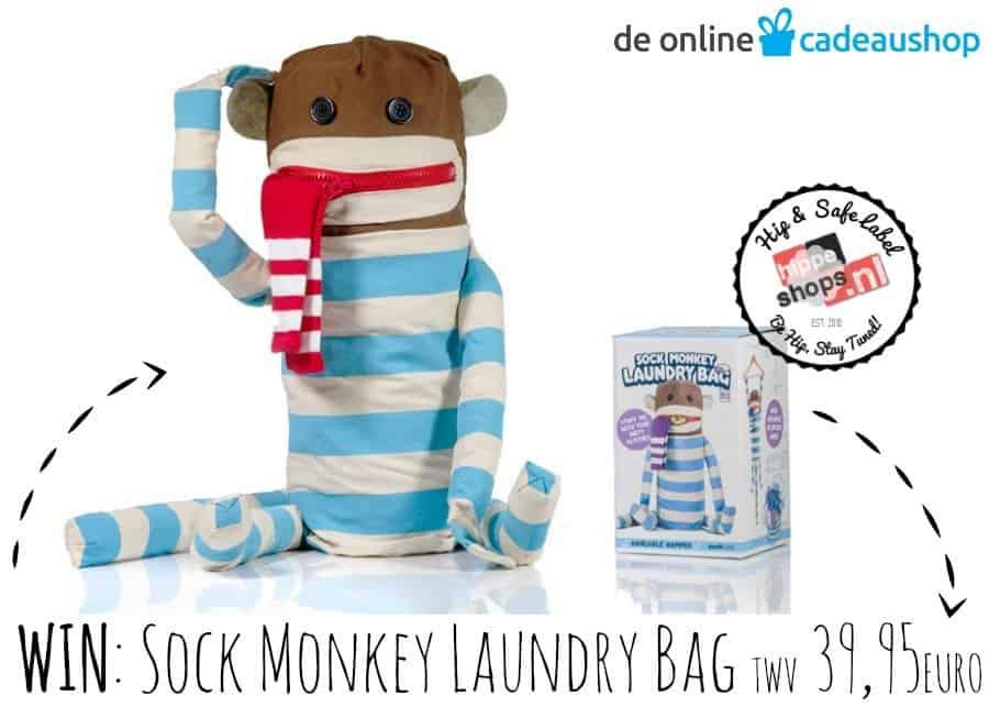 Sock Monkey Laundry Bag – de leukste waszak voor rommelaapjes