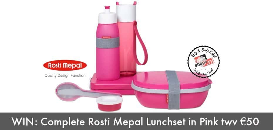 Rosti Mepal Give Away: Complete Lunchset Pink twv €50