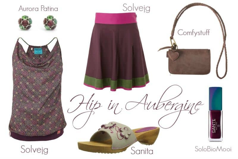 Zomers Hip in Aubergine