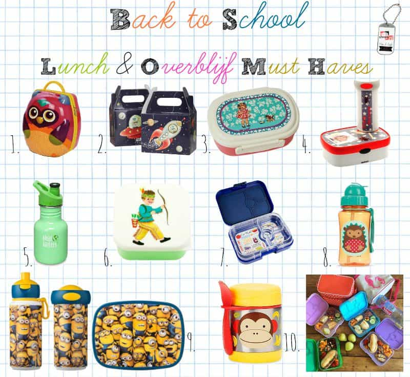 Lunch & Overblijf Must Haves Top 10 – Back to School