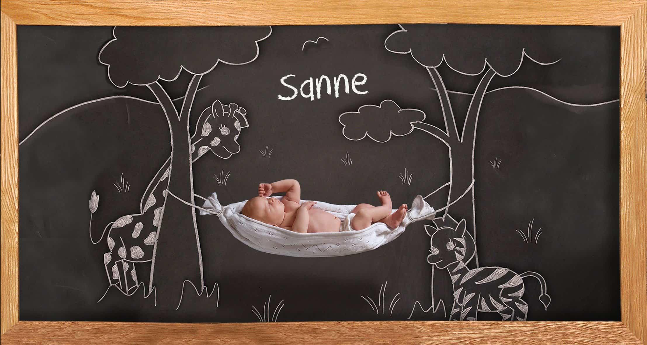 geboortepost krijtbord foto