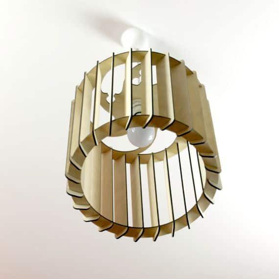 houtspul-lampenkap cilinder-