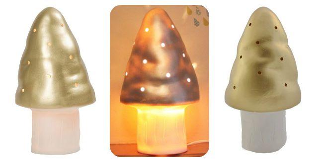 paddenstoellamp-goud