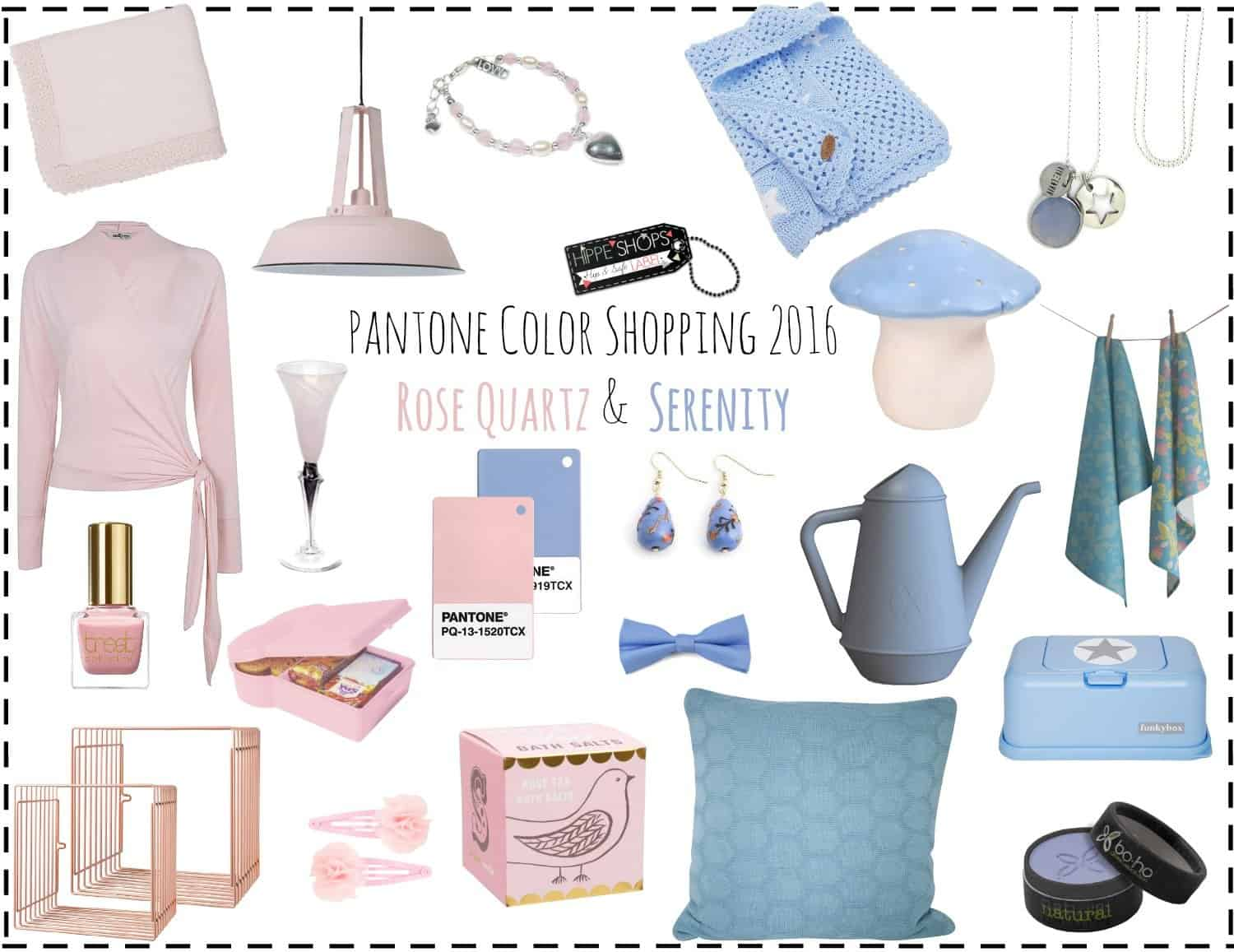 Rose Quartz & Serenity color shopping: Pantone 2016 trendkleuren