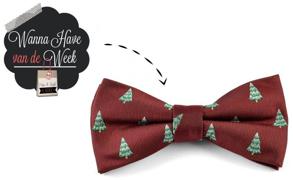 Stijlvolle Vlinderdas Kerst – Webshop Wannahave van de Week