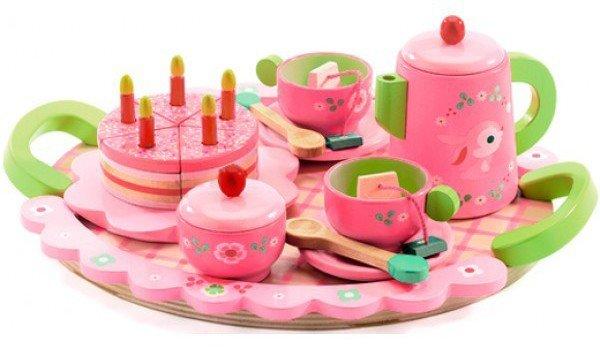 Djeco houten theeservies en ontbijttafel voor urenlang speelplezier