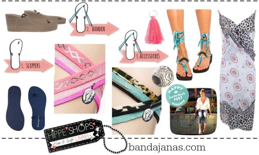 Bandajanas – stel zelf je hippe slippers samen
