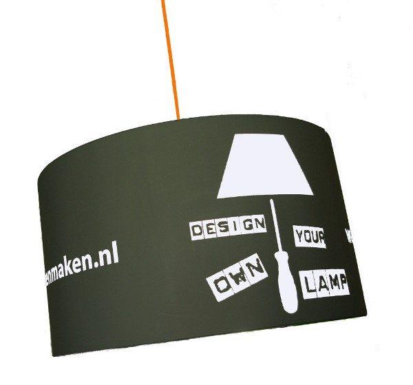 eigen logo lampenkap