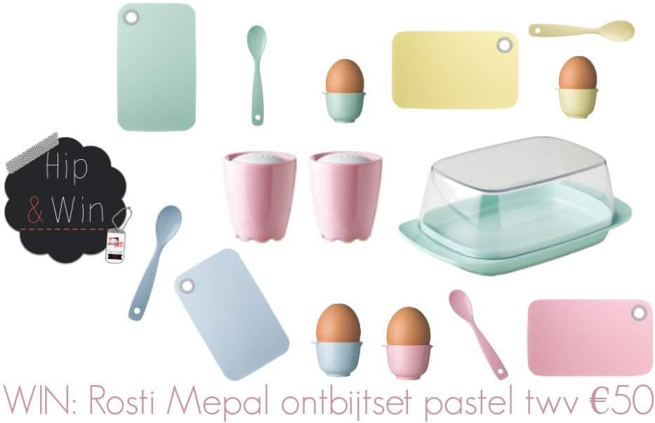 Rosti Mepal geeft weg: pastel ontbijtservies twv €50