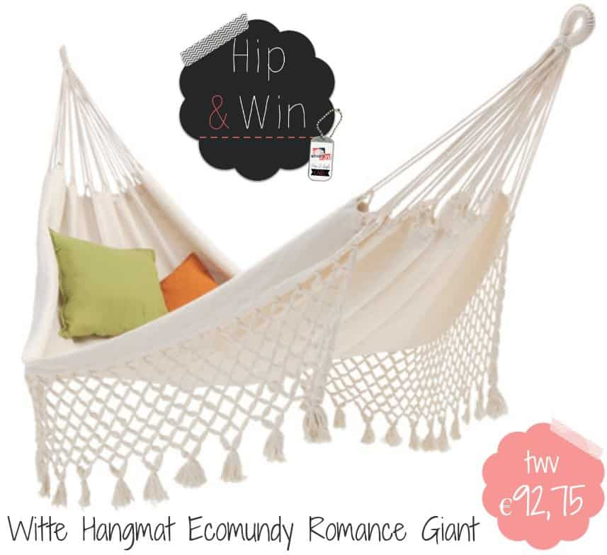 WIN: Luxe witte hangmat Ecomundy Romance Giant twv €92,75