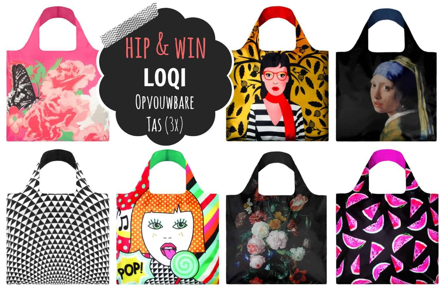 No Waste Design giveaway: LOQI opvouwbare tas (3x)