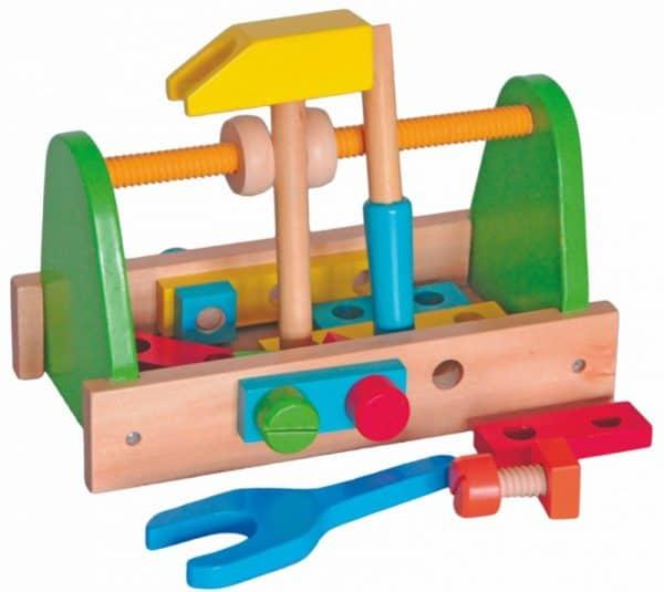 Houten speelgoed gereedschapset