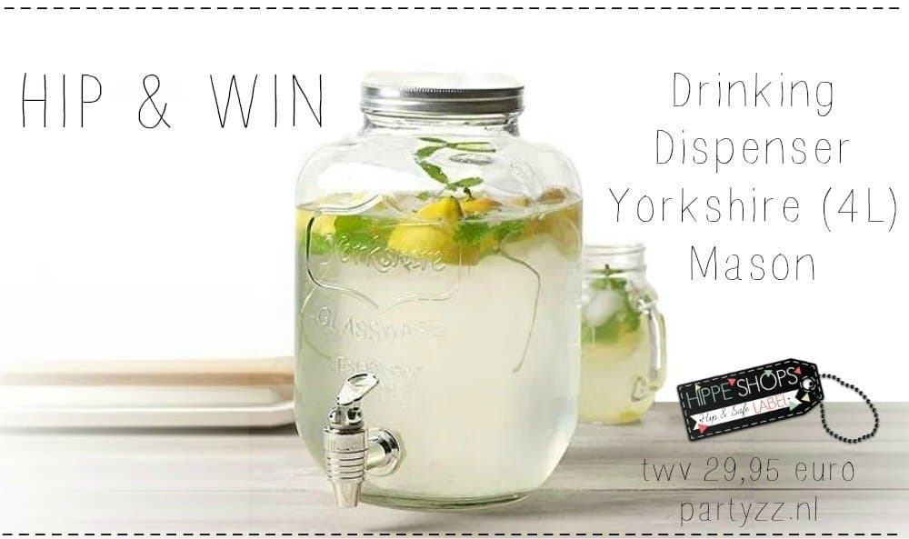 WIN: Drinking Dispenser Yorkshire 4 liter van Mason