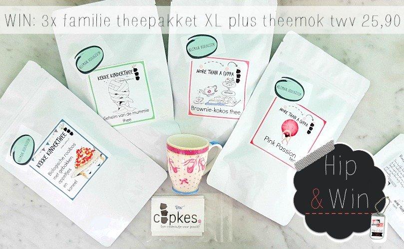 WIN: 3x Familie thee pakket XL + theemokje naar keuze